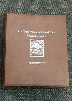 Great American Indian Chiefs Medal Collection Solid Sterling Silver