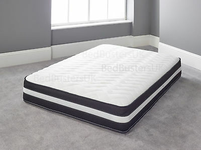 Memory Foam Quilted Pocket Spring Mattress 3ft Single 4ft6 Double 5ft King