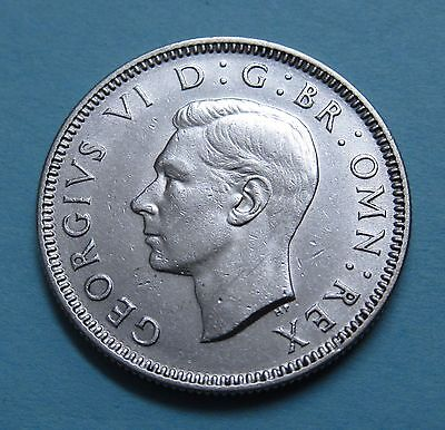 1938 Great Britain one shilling silver - NICE!