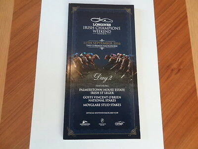 Longines Irish Champions Weekend Horse Racing Programme (2016) - Churchill