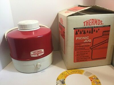 THERMOS Picnic 2 Gallon Jug Vintage 1960's Camping Party Travel Plastic 7783