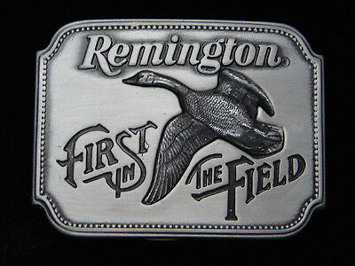 Qd09142 Vintage 1980 **remington First In The Field (Canada Goose)** Gun Buckle