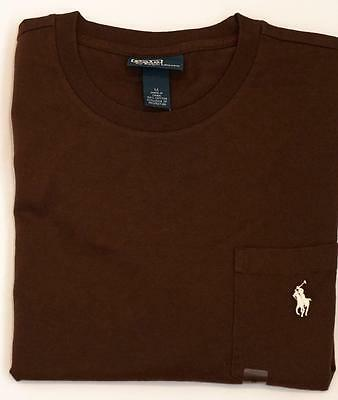 NEW Ralph Lauren POLO Mens Short Sleeve POCKET Tee T-Shirt Brown Size Large