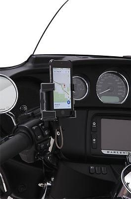Ciro Phone/GPS Perch Mount w/Charger Black #50211 Harley Davidson