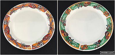 Lot of 2 Gibson Bugs Bunny Soccer and Taz Tasmanian Devil Basketball Plates