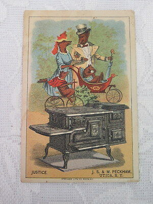 Victorian Trade Card,  J.S. & M. Peckham, New Justice, Wolf Family