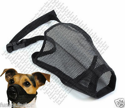 Pet Touch Mesh Dog Muzzle Adjustable Dog Muzzle Biting Chewing Barking Muzzle