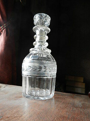 Beautiful Old Cut Glass Decanter