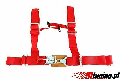 "It Sport Seat Belts Pp-Ps-038 4-Point 2"" Red Dtm"
