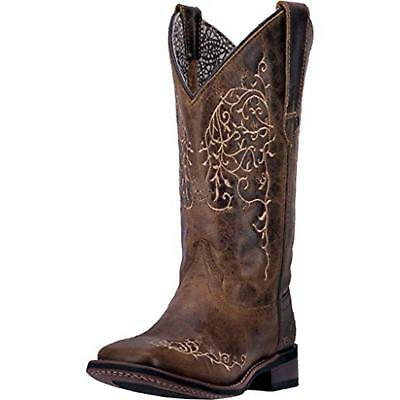 Laredo Women's Taupe Ivy Square Toe Cowgirl Boot,5677