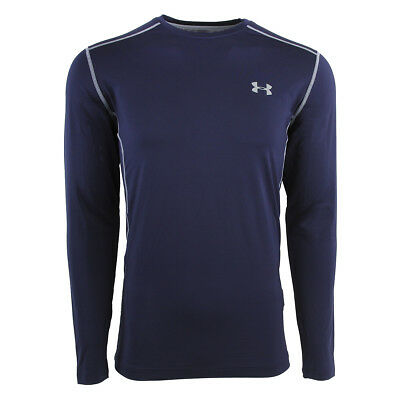 Under Armour Men's Raid L/S Fitted Tee Navy/Steel M