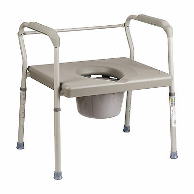 DMI Heavy Duty Bariatric Portable Bedside Commode, Toilet Safety,FREE SALES TAX