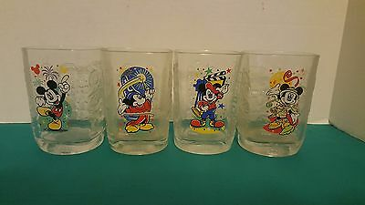 Walt Disney World 2000 Celebration Complete Set of McDonald's Promo Glasses