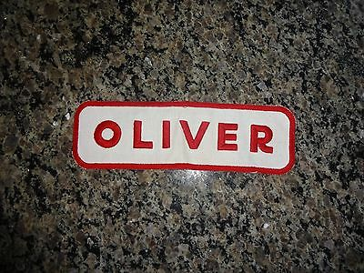 """Original Vintage Oliver Farm Tractor, Machinery Advertising PATCH 9.5"""" x 3"""""""