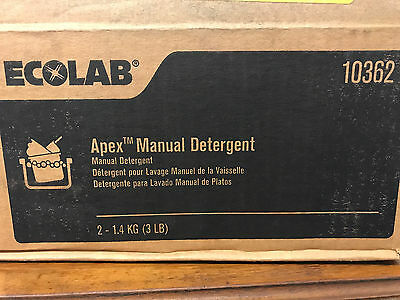 (Case of Two) Ecolab 10362 Apex Manual Detergent 3 lb Brand New