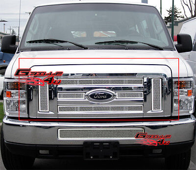 For 2008-2013 Ford Econoline Van/E-Series Stainless Steel Mesh Grille Grill