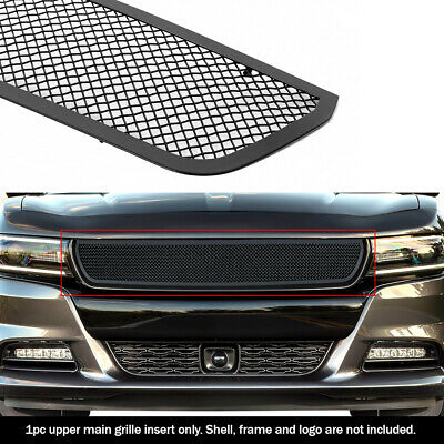 For 2015-2017 Dodge Charger Stainless Steel Black Mesh Grille