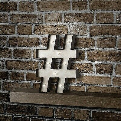 NEW! $29 Hashtag LED Marquee Sign