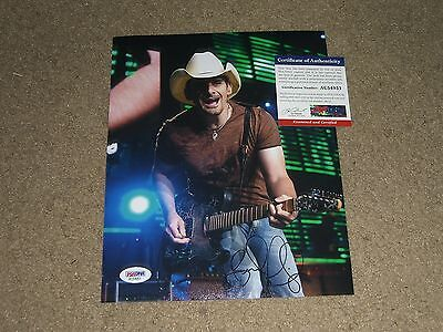 Brad Paisley Signed Autographed 8X10 Photo Wow Rare Country On Stage Psa Dna