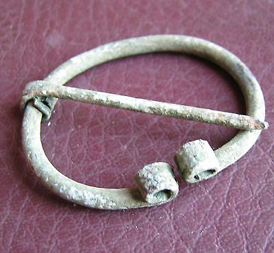 Authentic Ancient Lake Ladoga VIKING Artifact > Fibula Brooch  K5-1