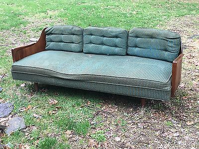 Mid Century Modern Danish Couch Sofa Day Bed Laminated Bent Wood