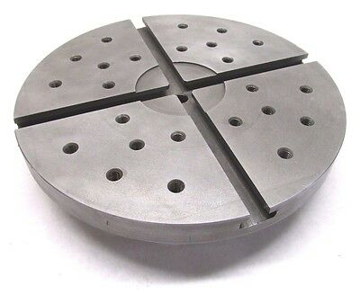 """HARDINGE 8-7/8"""" TAPPED & T-SLOTTED FIXTURE PLATE w/ 2-3/16""""-10 MOUNT - #C27D"""