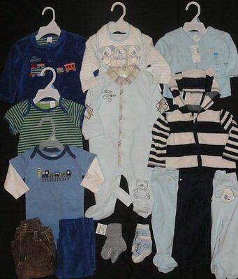 Huge Baby Boys Infant 3-6 Months Clothing Lot NWTS EUC Outfits Sets GAP
