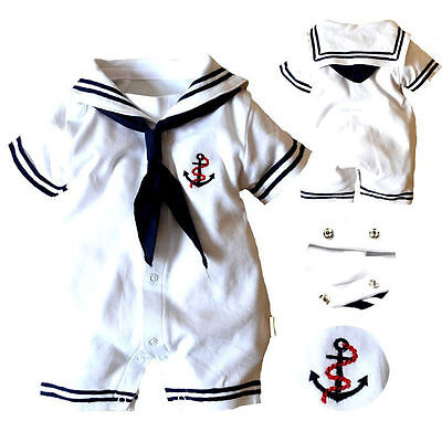 2019 Baby Boy Infant Anchor Sailor Romper Jumpsuit Bodysuit Clothes Outfits New