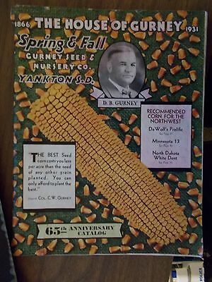 Rare 1931 House Of Gurney Seed And Nursery Catalog Depression Era