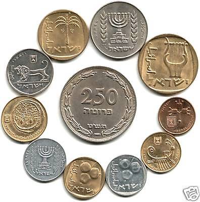 COLLECTION 12 EXQUIS OLD ISRAEL COINS w RARE 250P Historic Holy Land Lot CV $150