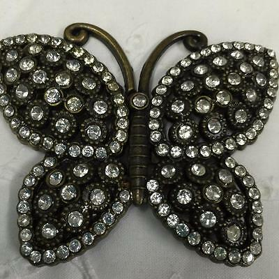 Beautiful Brass Butterfly Belt Buckle   (metal)