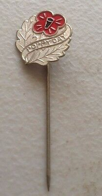 Vintage Poppy Day Appeal Badge Pin  WW1 Anzacs Remembrance Day