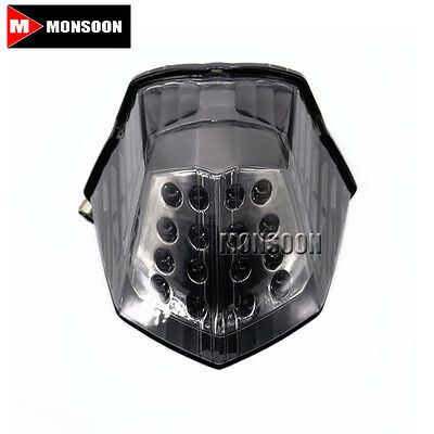 For YAMAHA XJ6 FZ6R DIVERSION 600 Motorcycle Accessories LED Tail Light Smoke