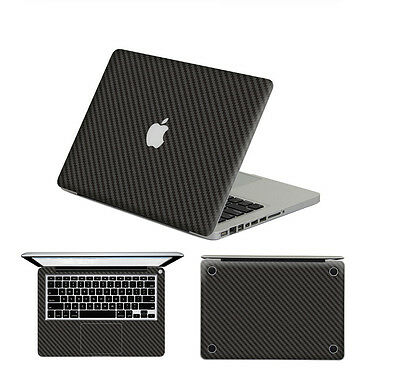 Slim Carbon fiber Skin adhesive Full Body Sticker Protector Fr Macbook Touch Bar
