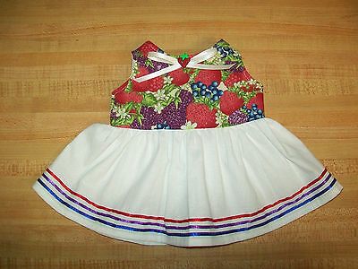 """RAINY DAY DUCKS DRESS W// DUCK BUTTON RIBBON for 16-17-18/"""" CPK Cabbage Patch Kids"""