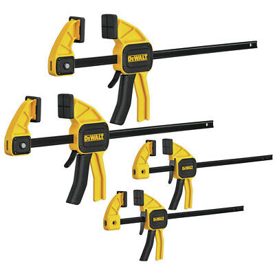 DeWalt DWHT83196 300-lb. Nylon Medium and Large Trigger Clamps 4-Pack New