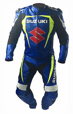 Suzuki Motorcycle Leather Suit MotoGp Sports Motorbike Cowhide Leather Suit