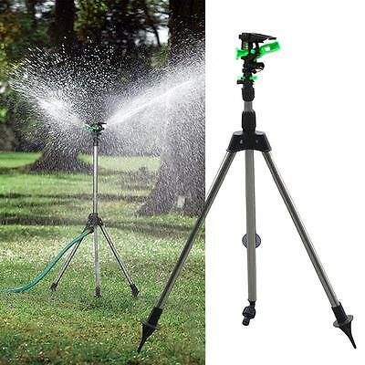 Tripod Impulse Sprinkler Pulsating Telescopic Watering Grass Lawn Yard & Garden