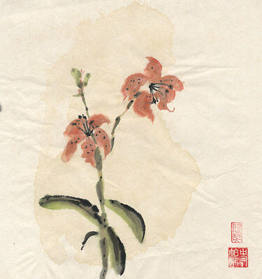 Chinese 20th Century Mixed Media - Floral Study