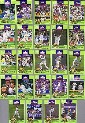"""Buttercup Bread  """"border's Ashes Heroes""""  Cricket Card  Set"""
