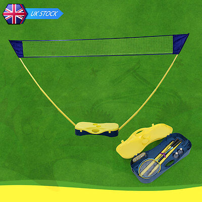 Portable Badminton Set Volleyball Net Battledore Outdoor Sports With Box Stand
