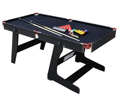 Folding Professional Snooker Table Pool Billiard Set With Ball Cue & Accessories
