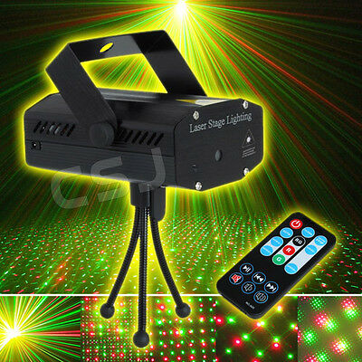LED Laser Strobe Effect Stage Light Disco Club DJ Sound Activated Party w/Remote