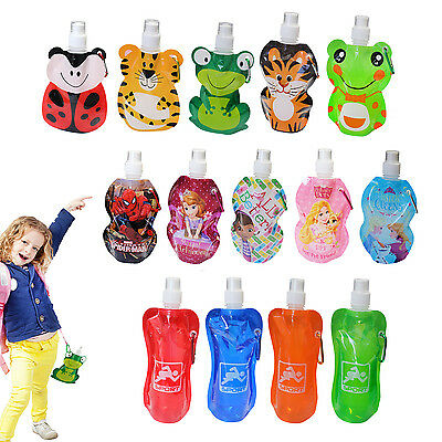 Kids Drinks Bottle Travel Water Juice Folding Sports Collapsible School Camping