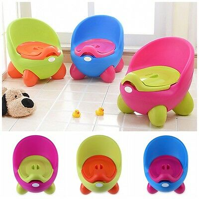 UK Easy Clean Kids Toddler Potty Training Chair Seat Toilet Trainer Removable