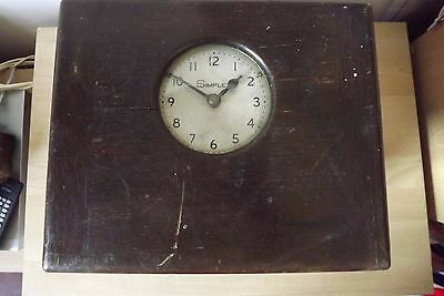 Vintage Simplex Clocking in Clock