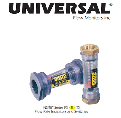 """Insite Inline Flow Meter 1 ½"""" NPT Up To 50GPM Ultra-Pure Water With Switch[C2S4]"""