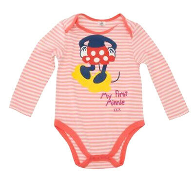 Baby Girls Minnie Mouse long sleeve Babygrow Romper Sleepsuit. Official Disney