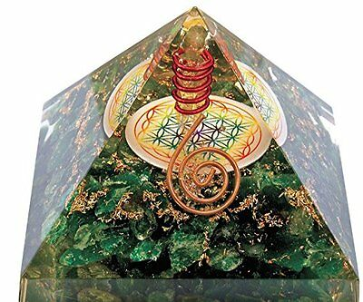 Orgonite pyramid flower of life Malachite (Promotes sleep, acts positively on he