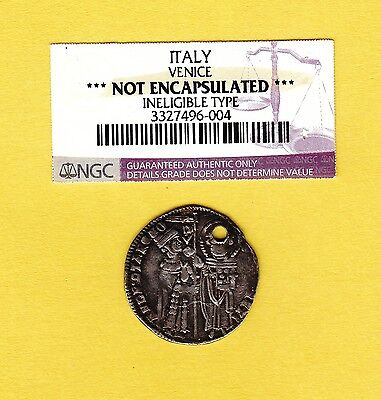 1300's Silver Grosso Venice Italy Medieval Coin
